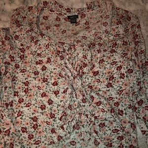 Flower tie up shirt from rue21!!